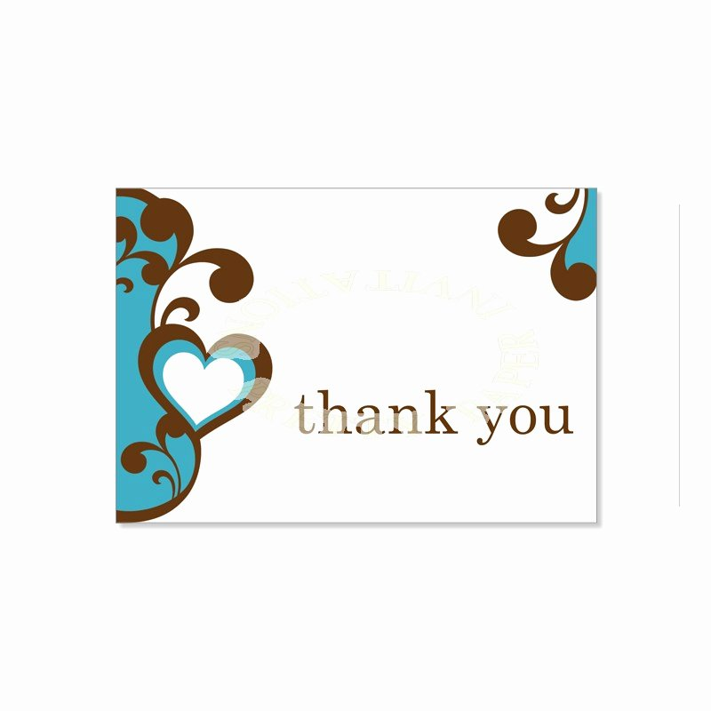 Thank You Cards Template Lovely Thank You Card Template