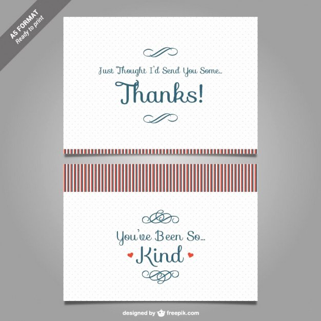 Thank You Cards Template Luxury Thank You Card Template Vector Vector