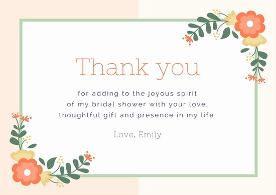Thank You Cards Template New Thank You Cards