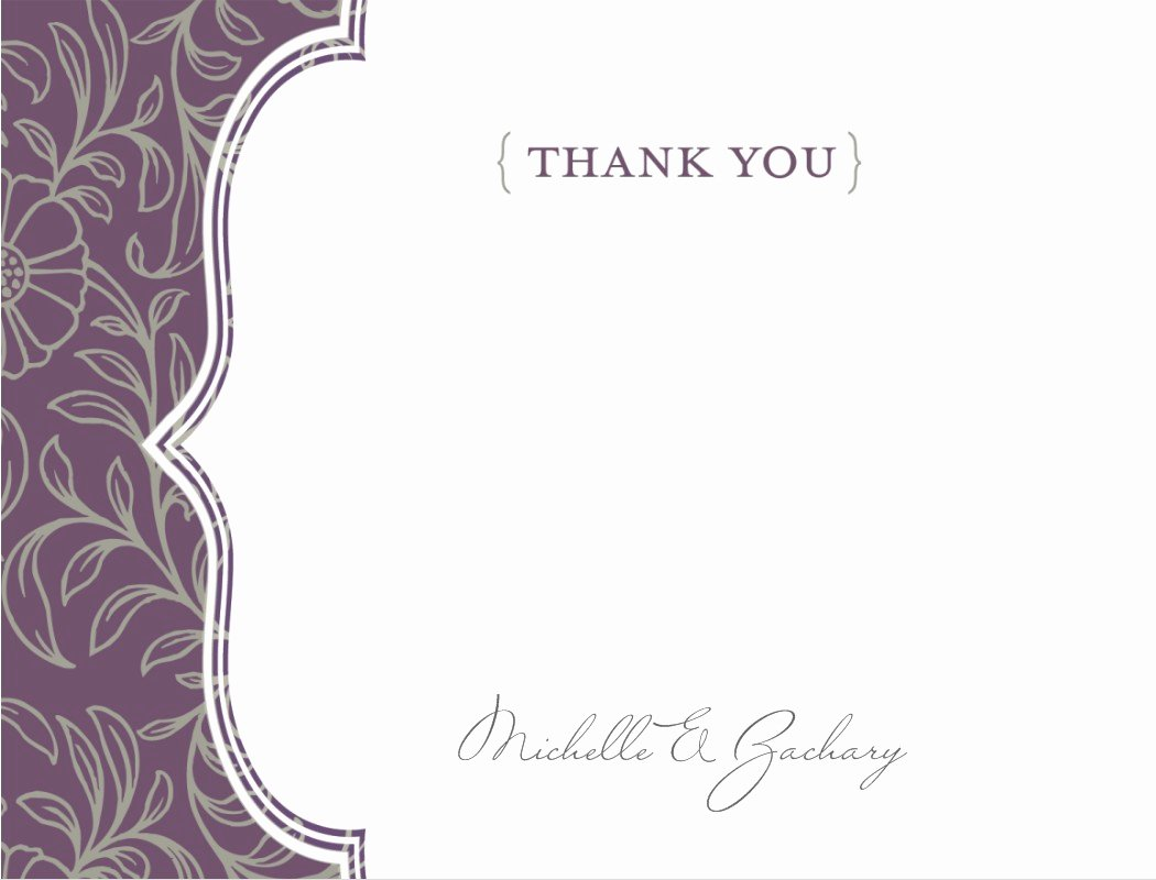 Thank You Cards Template Unique Thank You Template