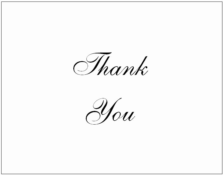 Thank You Postcard Template Best Of 34 Printable Thank You Cards for All Purposes