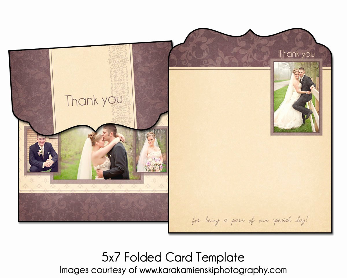 Thank You Postcard Template Best Of Lilac Love 5x7 Folded Thank You Card Template 2
