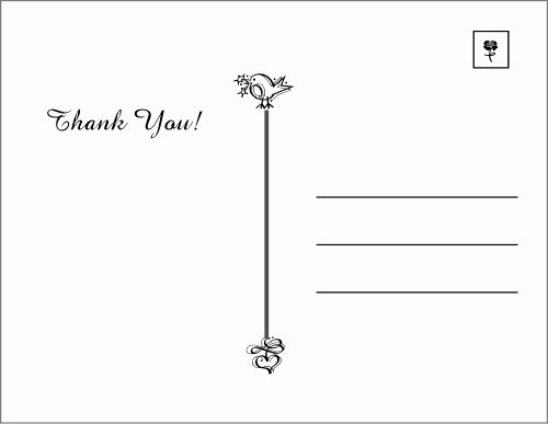 Thank You Postcard Template Best Of Thank You Postcards – Weneedfun