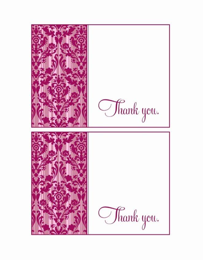 Thank You Postcard Template Elegant 30 Free Printable Thank You Card Templates Wedding