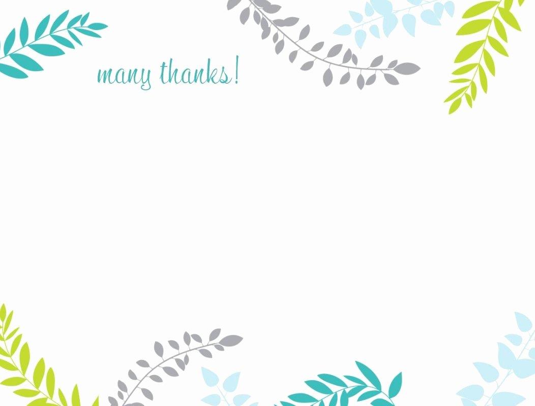 Thank You Postcard Template Elegant Printable Thank You Card Template