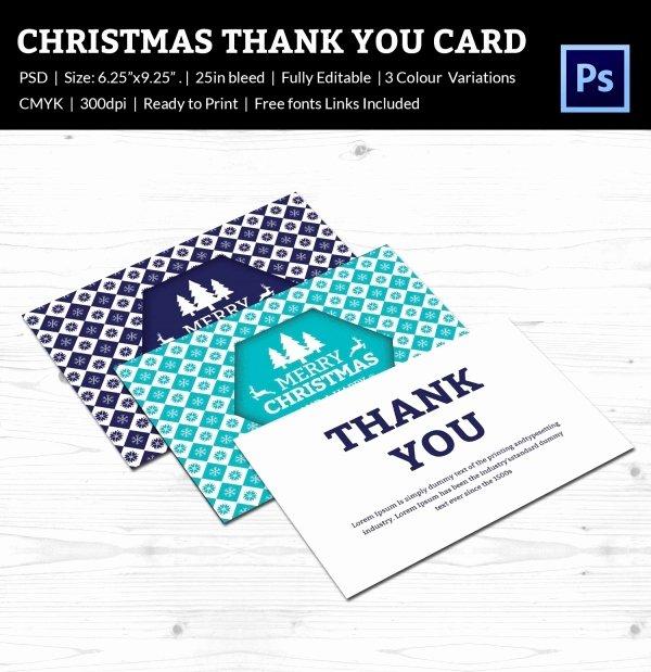 Thank You Postcard Template Inspirational 30 Christmas Thank You Card Templates Free Psd Eps