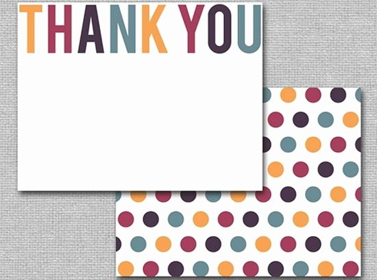 Thank You Postcard Template Lovely 25 Beautiful Printable Thank You Card Templates Xdesigns