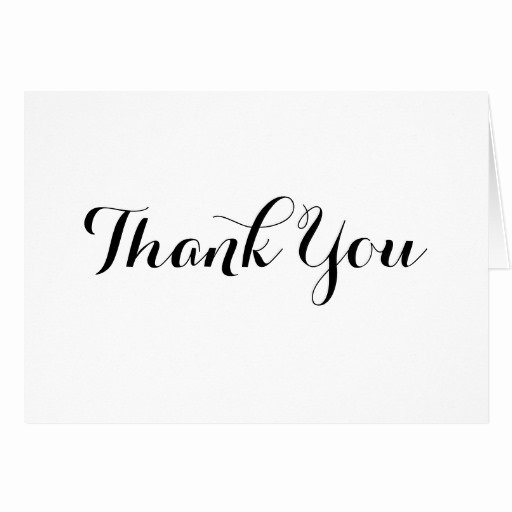 Thank You Postcard Template Luxury Black Calligraphy Thank You Note Card Template