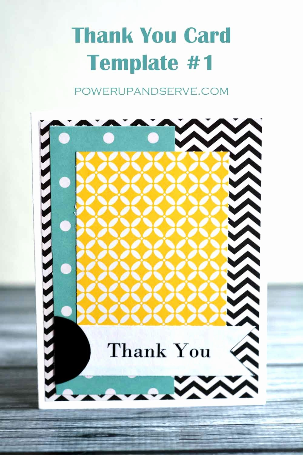 Thank You Postcard Template Luxury Thank You Card Template 1 Power Up and Serve