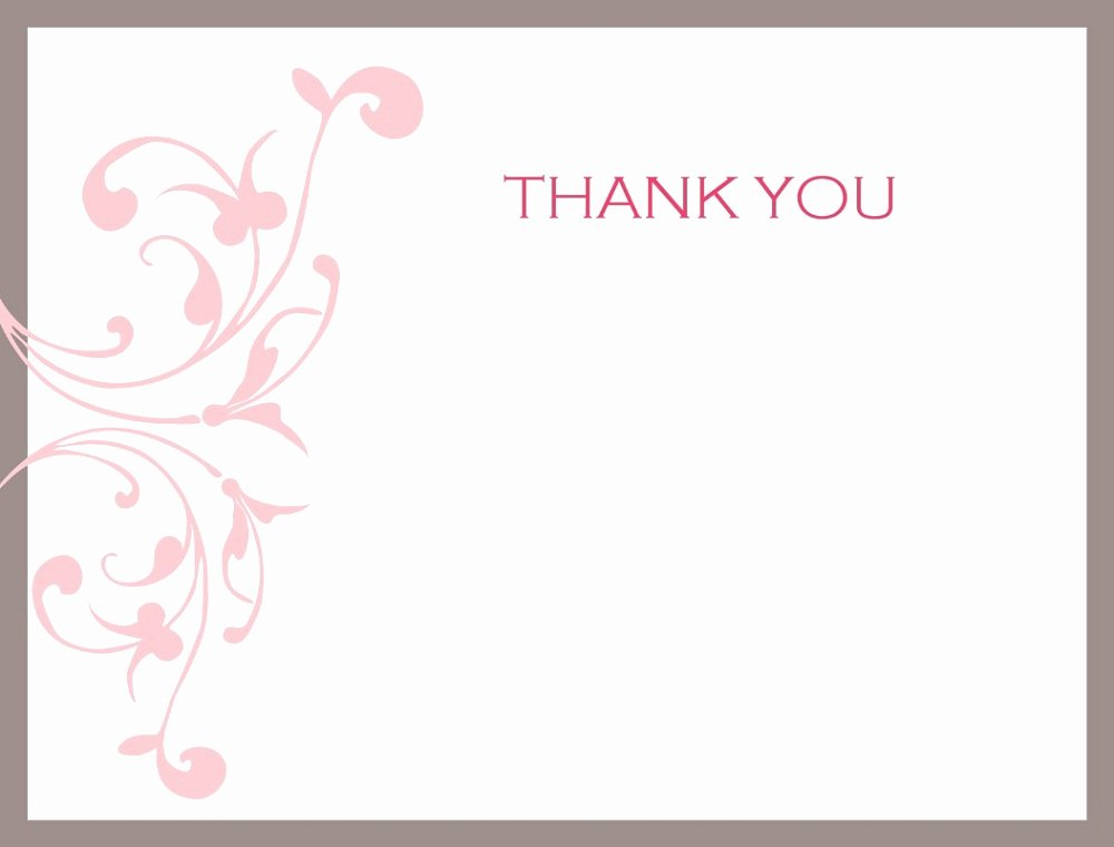 Thank You Postcard Template Luxury Thank You Note Printable