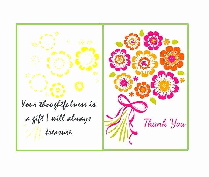 Thank You Postcard Template New 30 Free Printable Thank You Card Templates Wedding