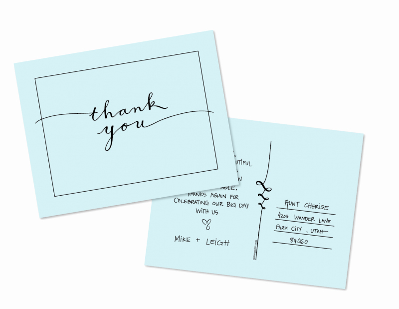 Thank You Postcard Template New A Free Thank You Postcard Template From Melissa Esplin