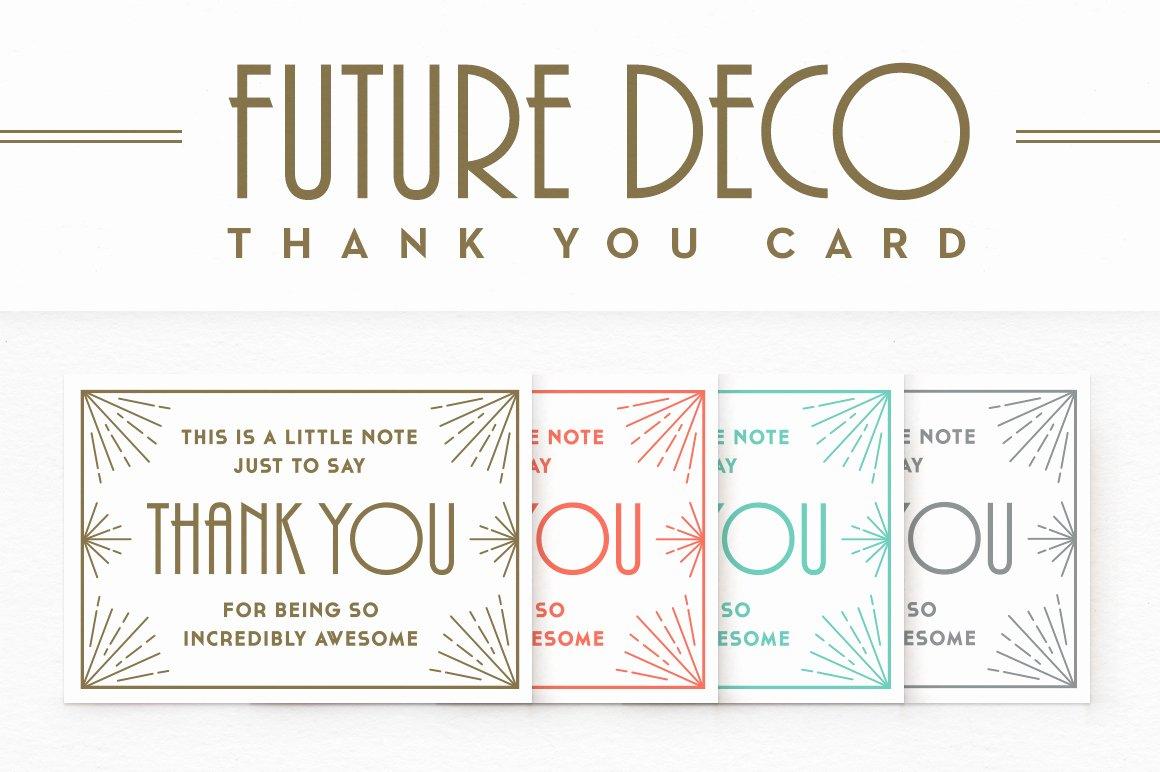 Thank You Postcard Template Unique Futuredeco Thank You Card Card Templates On Creative Market