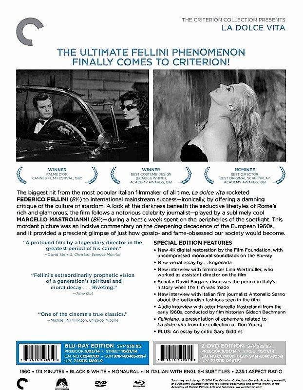 Theatre Press Release Template Beautiful Criterion Press Release La Dolce Vita Blu Ray