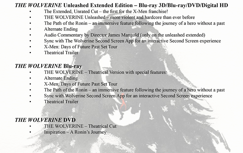 Theatre Press Release Template Best Of Tcfhe Press Release the Wolverine 3d Blu Ray Bo Blu