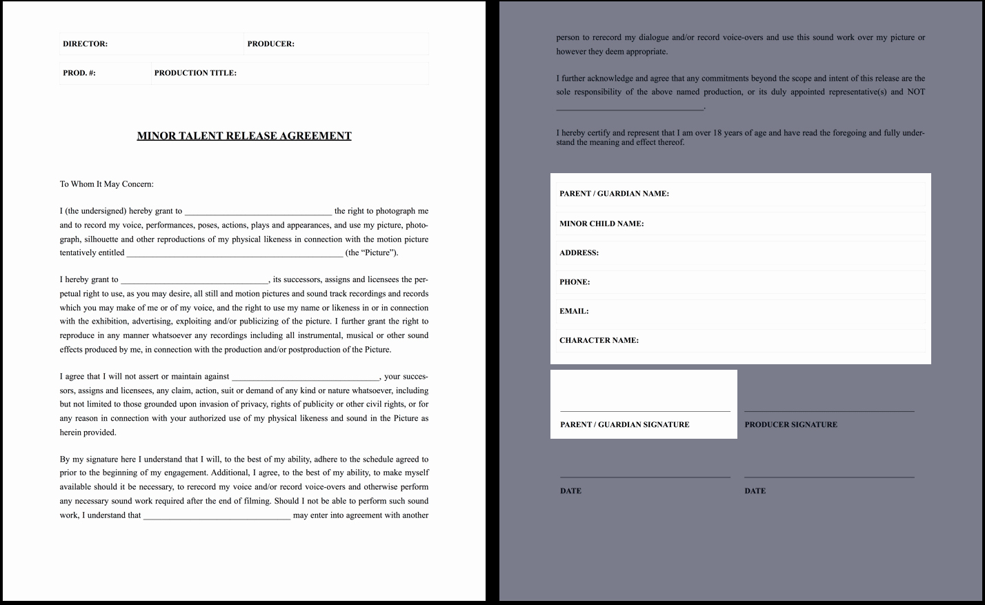 Theatre Press Release Template Best Of the Plete Guide to Actor Release forms Free Template