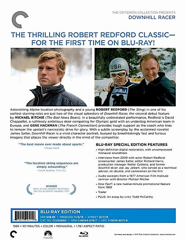 Theatre Press Release Template Inspirational Criterion Press Release Downhill Racer Blu Ray