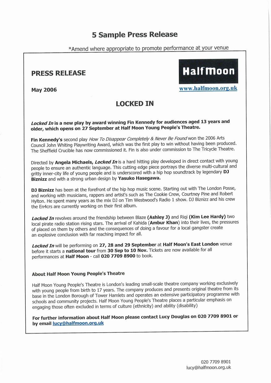Theatre Press Release Template Luxury Music Artist Press Release Template Image Collections