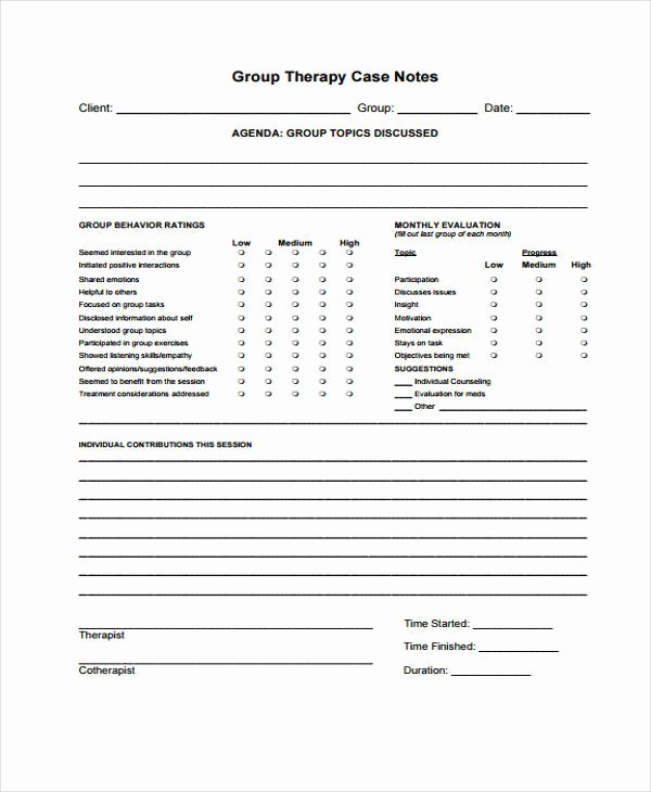 Therapist Progress Note Template Best Of therapy Note Templates 6 Free Word Pdf format Download