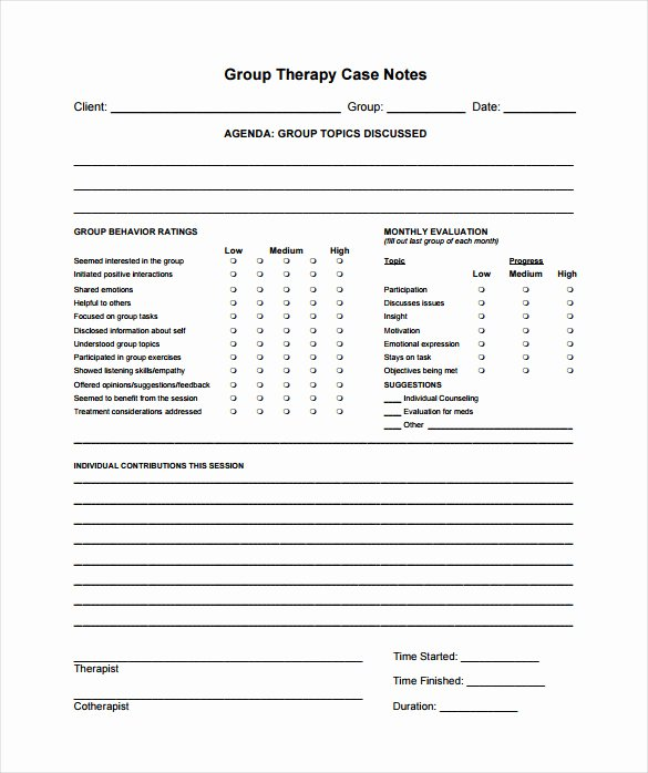 Therapist Progress Notes Template Luxury Case Notes Template – 7 Free Word Pdf Documents Download