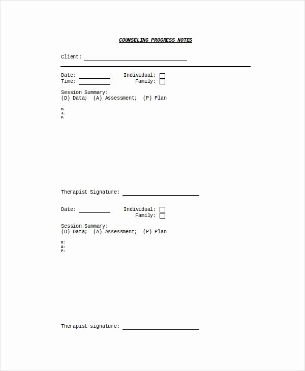 Therapy Progress Note Template Free Elegant 10 Progress Note Templates Pdf Doc