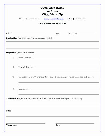 Therapy Progress Note Template Free New Psychotherapy Notes Template social Work Progress Note