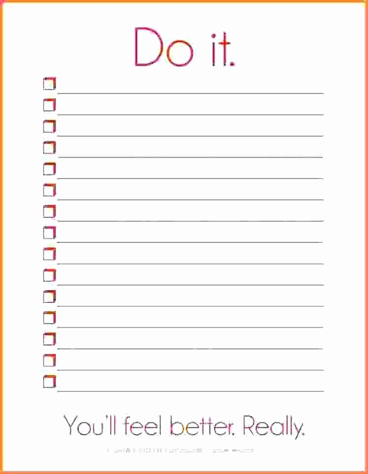 Things to Do List Template Elegant Things to Do List Templates Printable 50 States and
