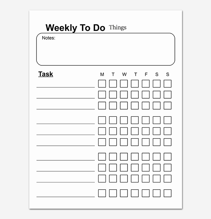 Things to Do List Template Fresh Things to Do List Template 20 Printable Checklists