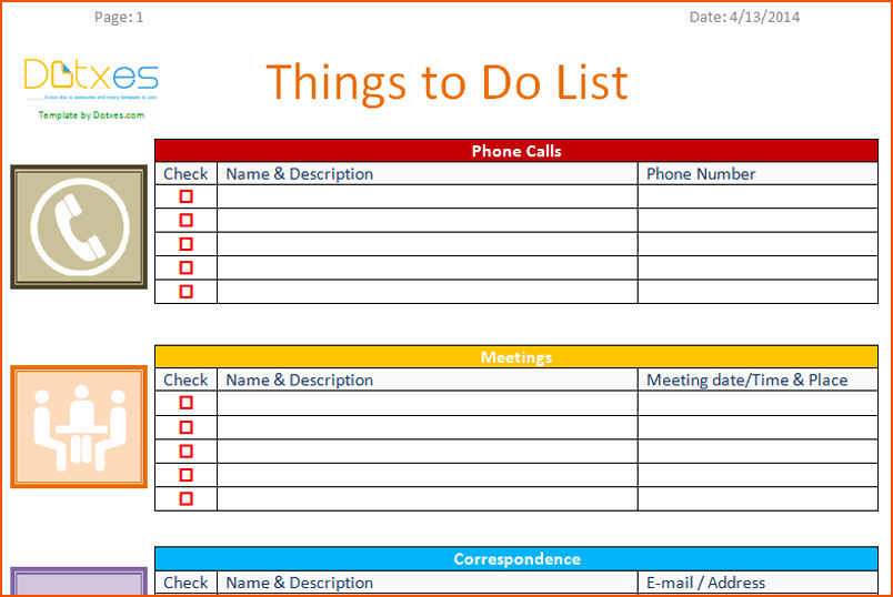 Things to Do List Template Inspirational 7 to Do Template Bookletemplate