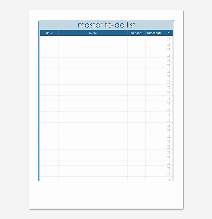 Things to Do List Template Inspirational Things to Do List Template 20 Printable Checklists