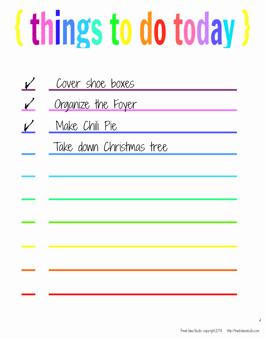Things to Do List Template Unique 6 Best Of Things to Do Template Printable Things