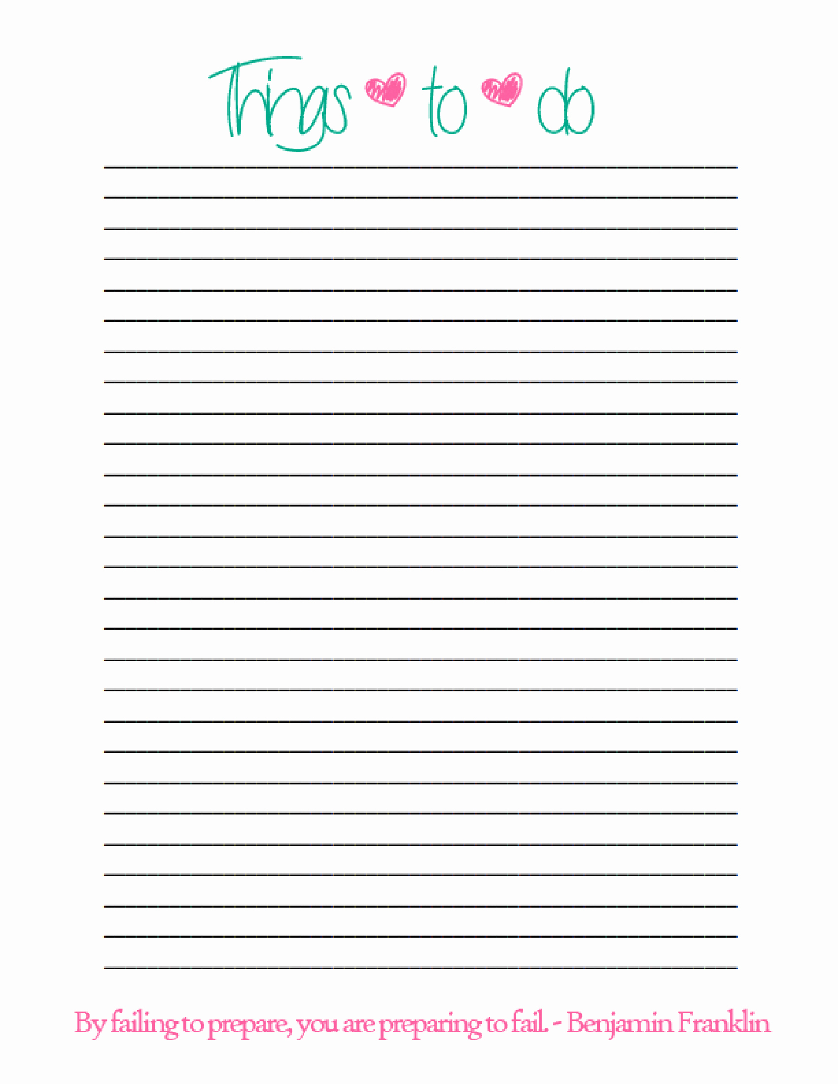 Things to Do Lists Template Beautiful Simple Things to Do List Pdf Favorite Quotes