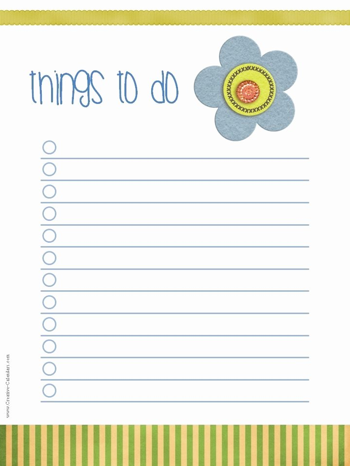 Things to Do Lists Template Beautiful to Do List Template