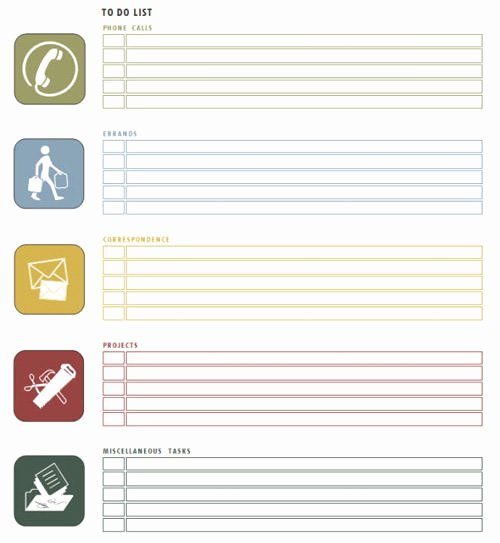 Things to Do Lists Template Elegant Useful Microsoft Word & Microsoft Excel Templates Hongkiat
