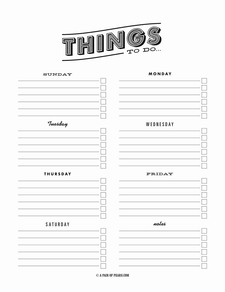Things to Do Lists Template Inspirational to Do List Template Pdf