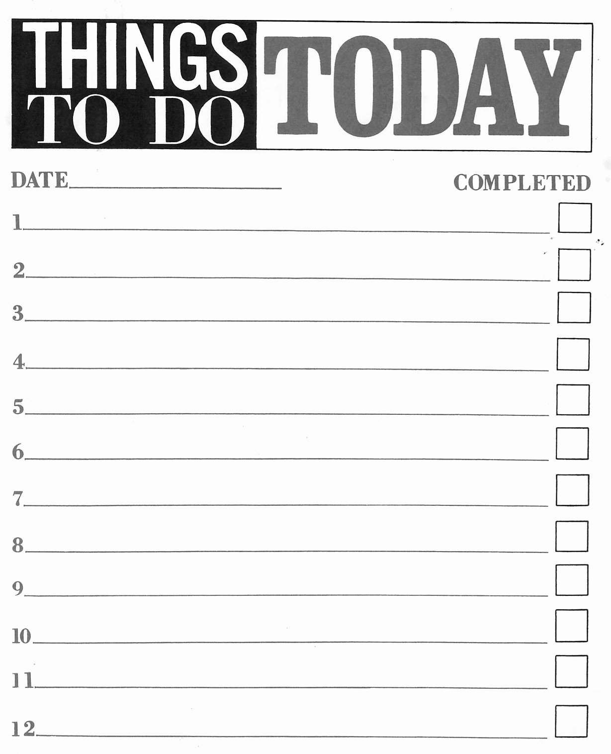 Things to Do Lists Template New Things to Do List Pdf