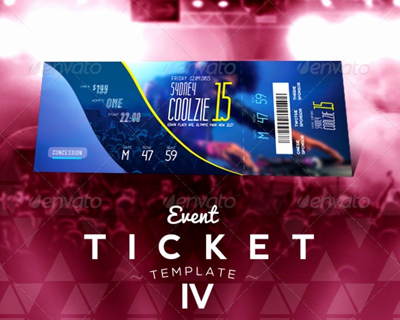 Ticket Design Template Free Awesome 20 Best event Concert Ticket Psd Templates