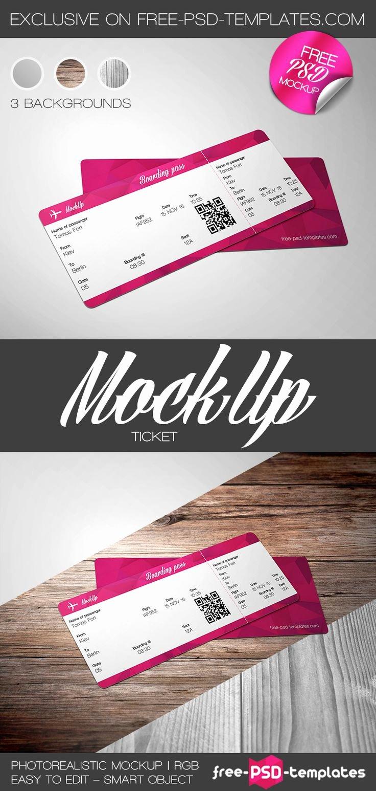 Ticket Design Template Free Beautiful Best 25 Ticket Template Free Ideas On Pinterest