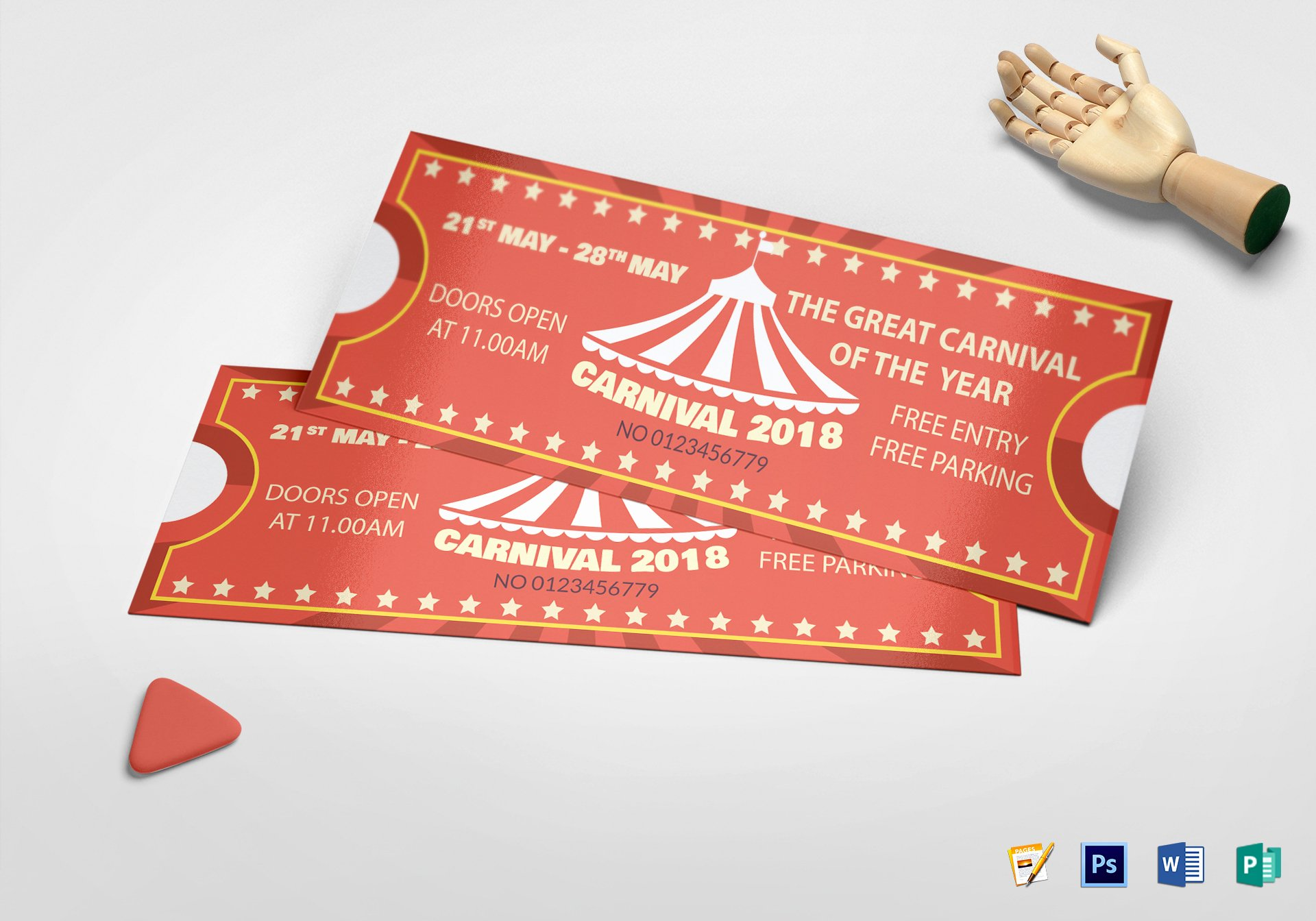 Ticket Design Template Free Best Of Printable Carnival Ticket Design Template In Psd Word