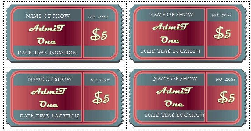 Ticket Design Template Free Elegant 6 Ticket Templates for Word to Design Your Own Free Tickets