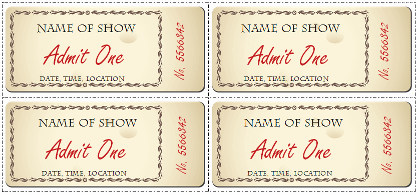 Ticket Design Template Free Elegant event Ticket Template Word Free Printable Ticket Template