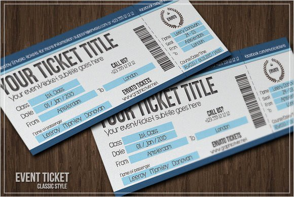 Ticket Design Template Free Lovely Sample Blank Ticket Template 7 Documents In Psd Pdf