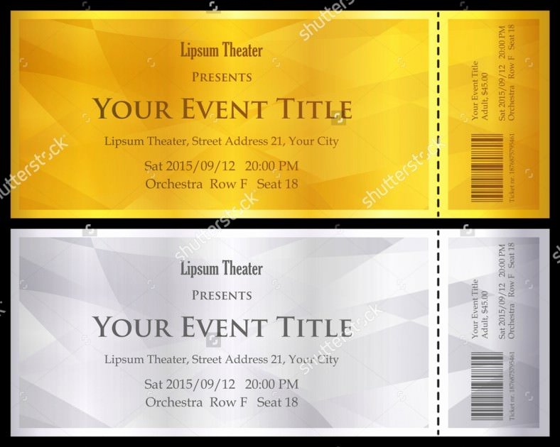 Ticket Design Template Free Lovely Ticket Design Template Free Psd