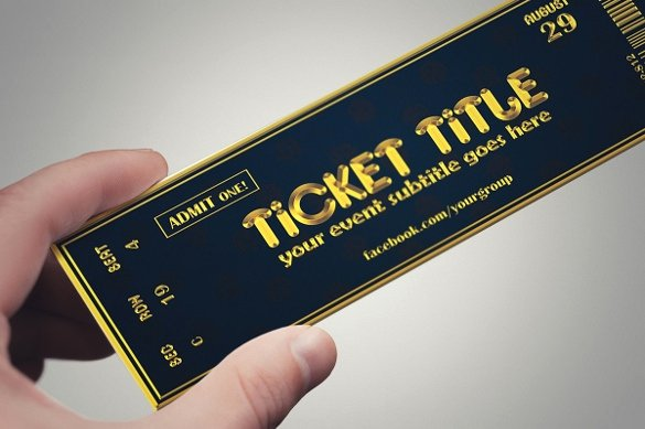 Ticket Design Template Free Lovely Ticket Design Template Invitation Template