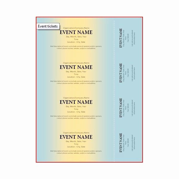 Ticket Design Template Free Luxury the Best event Ticket Template sources