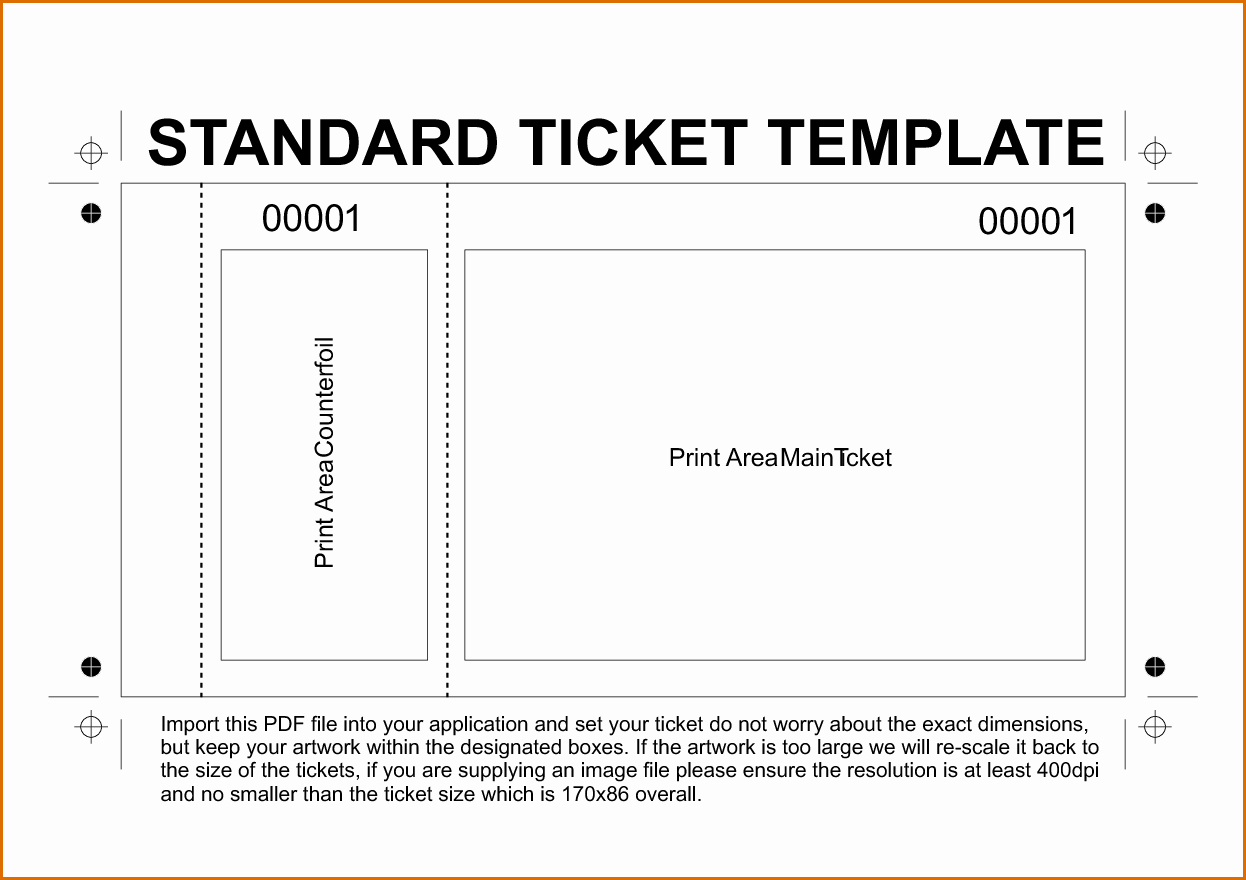 Ticket Design Template Free Unique 11 Free Printable Raffle Ticket Template