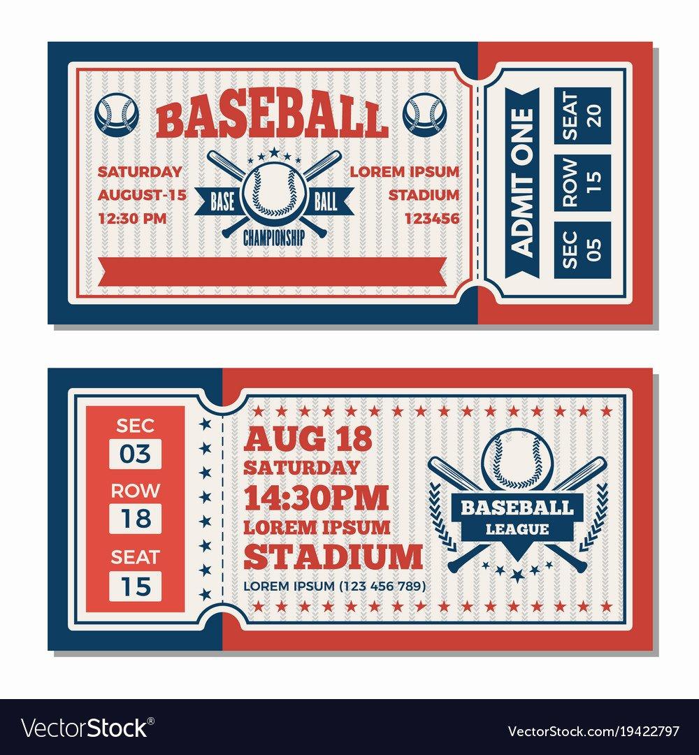 Ticket Design Template Free Unique Admit E Ticket Template softball