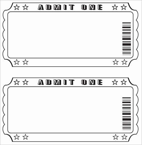 Ticket Design Template Free Unique Free Raffle Ticket Template