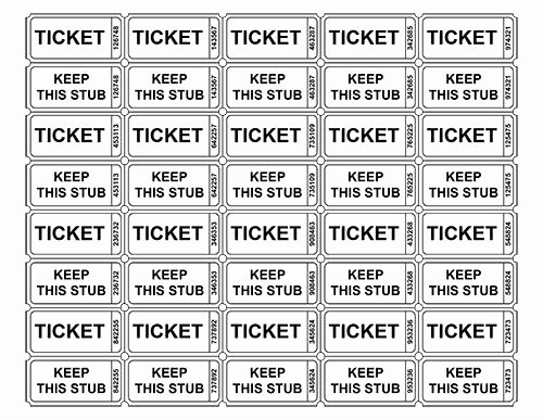 Ticket Template for Pages Awesome Free Printable Raffle Tickets