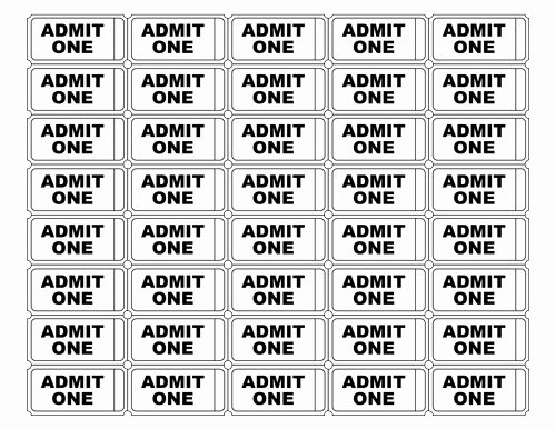 Ticket Template for Pages Best Of Free Printable Admit E Ticket Templates Blank